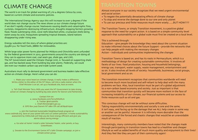 Transition flyer back