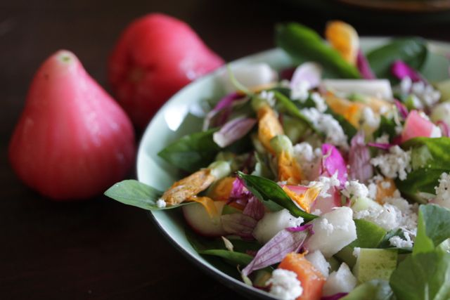rose apple salad