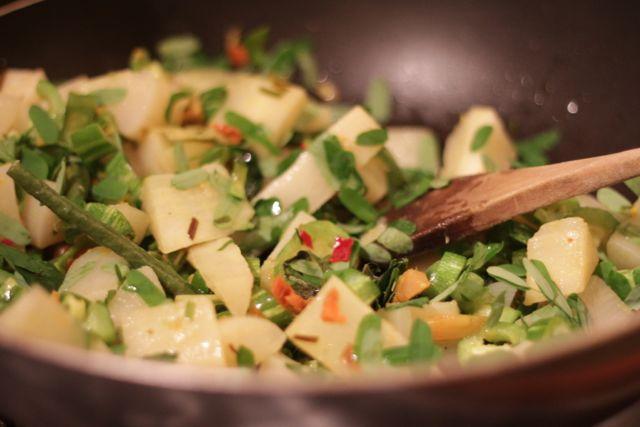 sall in dish