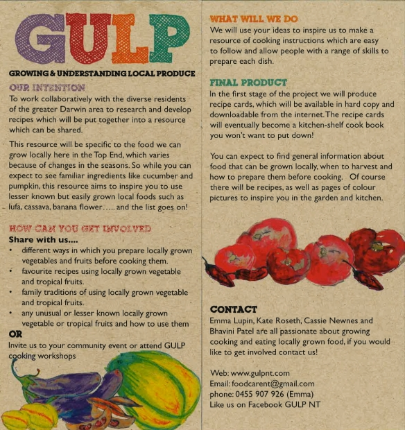 Our GULP information, in a flyer