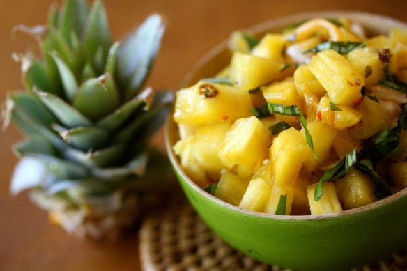 Pineapple salsa one