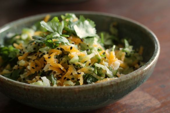 Pumpkin salad grated