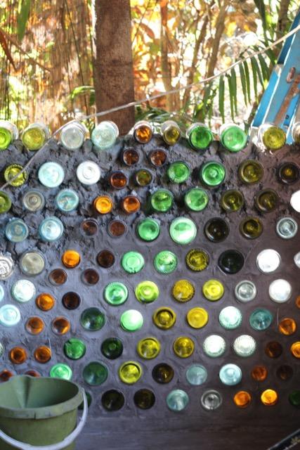 Bottle wall build